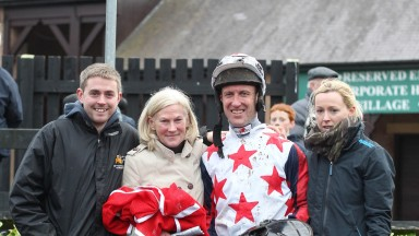 Denise 'Sneezy' Foster (second left): has been involved in racing for over 20 years
