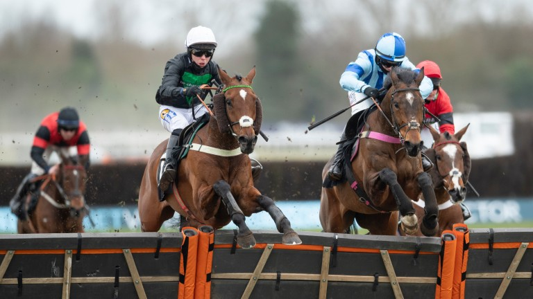 Always Resolute and Tom Buckley (left) clear the last