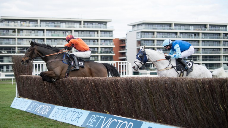 Sir Ivan (Lorcan Murtagh) with a big jump in the veterans' chase