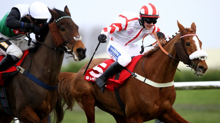 Red Infantry (far): rallied to deny Special Prep in the Grimthorpe Handicap Chase