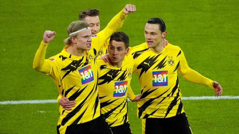 Erling Haaland (left) can spearhead Borussia Dortmund's attack