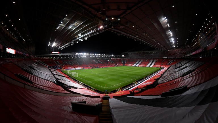 Visitors to Old Trafford have been greeted by empty stands