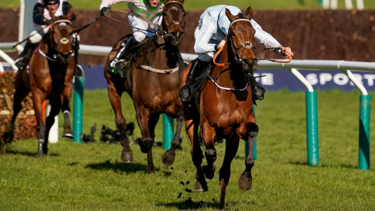 Rachael Blackmore and Honeysuckle head for home in the Unibet Champion Hurdle