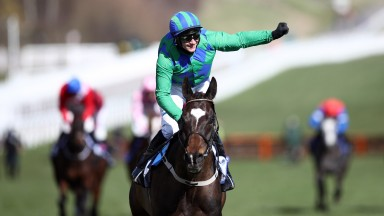 Paul Townend celebrates as Appreciate It runs out an impressive winner of the Sky Bet Supreme Novices' Hurdle on day one of the Cheltenham Festival