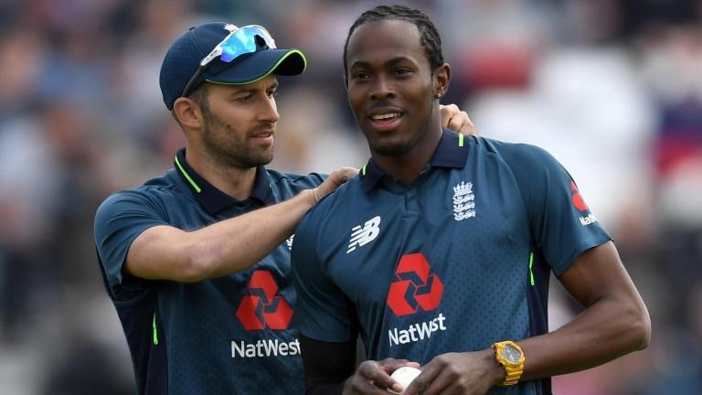 Mark Wood (left) and Jofra Archer have troubled India's batsmen