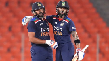 Virat Kohli (right) and Rohit Sharma starred in the T20 series decider