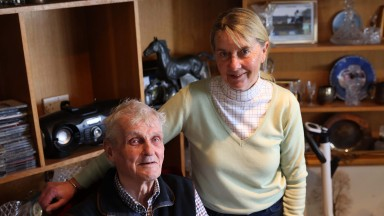 LOSERS DONT COUNT - Trainer Sue Smith and husband Harvey Smith at home - Craigslands Farm, Bingley West Yorks 23/3/21Photograph by Grossick Racing Photography 0771 046 1723