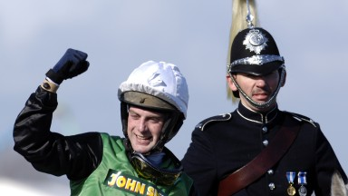 2006 Grand National Race at Aintree Niall Madden and Numbersixvalverde celebrate after winning the Grand NationalApril 2006