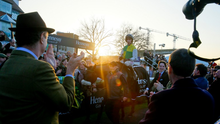 Many Clouds and Leighton Aspell return after winning the 2014 Hennessy Gold Cup at Newbury