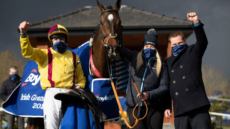 Ricky Doyle, Mollie O'Connor and Dermot McLoughlin with Freewheelin Dylan after his shock success
