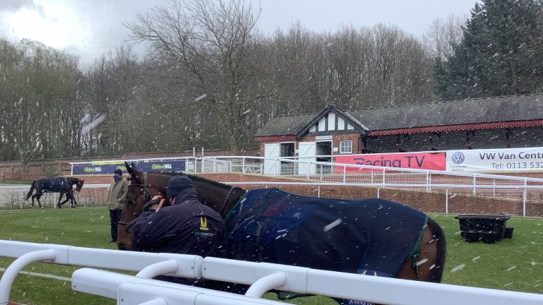 A snowy start to the season at Pontefract