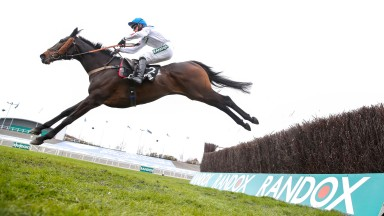 CLAN DES OBEAUX (Harry Cobden) wins at AINTREE 8/4/21Photograph by Grossick Racing Photography 0771 046 1723