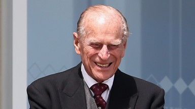 EPSOM, ENGLAND - JUNE 06:  Prince Philip, Duke of Edinburgh watches the racing from the Royal box as he attends the Investec Derby festival at Epsom Racecourse on June 6, 2015 in Epsom, England.  (Photo by Chris Jackson/Getty Images)