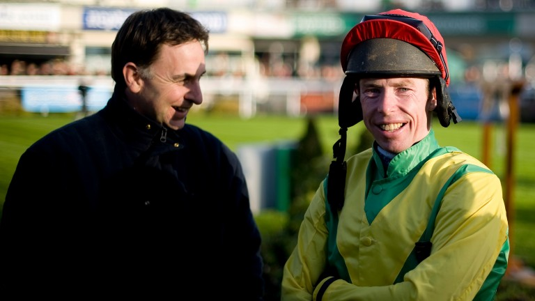 Andrew Lynch (right) with Henry de Bromhead during in his riding heyday