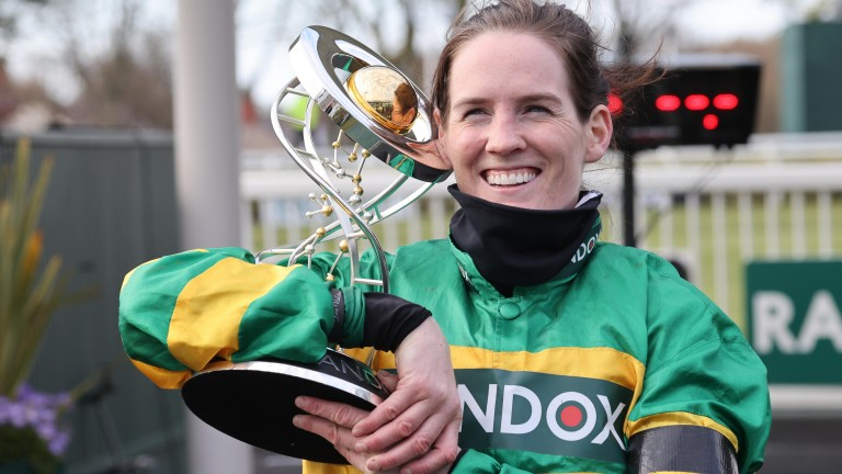 Rachael Blackmore: has moved within four of Paul Townend after Kilbeggan treble