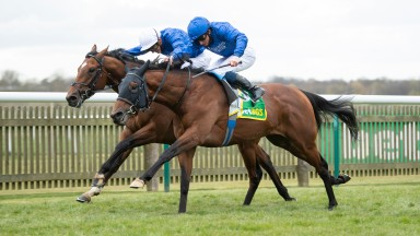 Master Of The Seas (William Buick, near) beats La Barrosa (James Doyle) in the Craven Stakes
