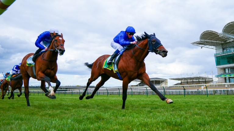 Master Of The Seas (right) could make his first start since his second in the 2,000 Guineas in the Joel Stakes on Friday