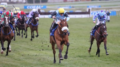 MILKWOOD (Sam Twiston-Davies) wins at AYR 18/4/21Photograph by Grossick Racing Photography 0771 046 1723