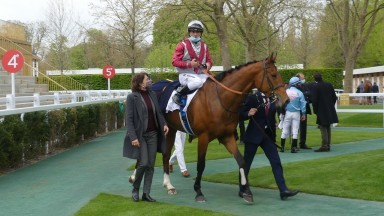 Co-trainer Pia Brandt returns with the imposing Policy Of Truth and Maxime Guyon after success in the G3 Prix de Fontainebleau at Longchamp