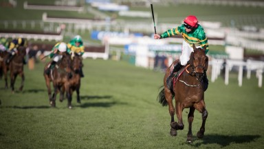 Cause Of Causes wins the 2017 Cross Country Chase under Jamie Codd to record his third Cheltenham Festival success