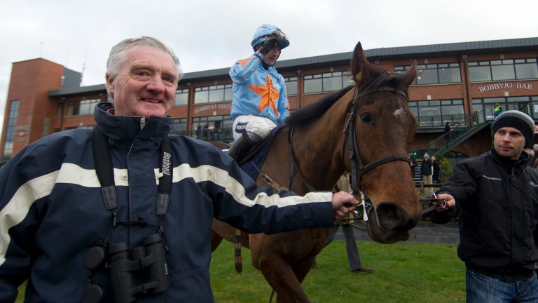 Eddie O'Connell: leads in Turban and Ruby Walsh after their victory in the Underwriting Exchange Dan Moore Memorial Handicap Chase at Fairyhouse in 2014