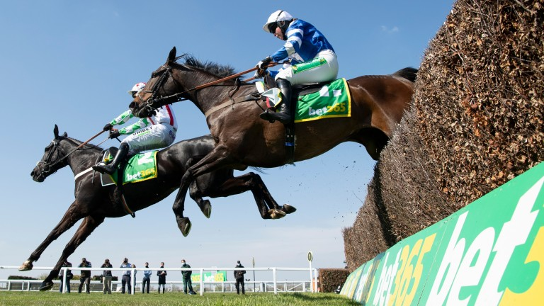 Frodon and Bryony Frost (near) fight back against Mister Fisher and Nico de Boinville