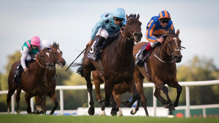 Almanzor sees off Found to win the Irish Champion Stakes at Leopardstown