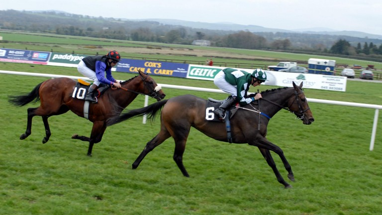 Mooneista's dam Moon Unit beats her sire Dandy Man in the 2006 Woodlands Stakes