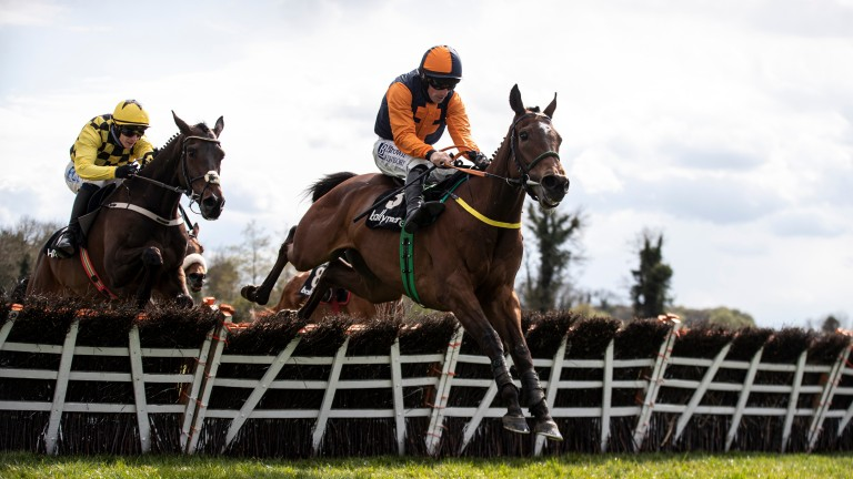 Jeff Kidder clears the last on the way to top-level success under Sean Flanagan