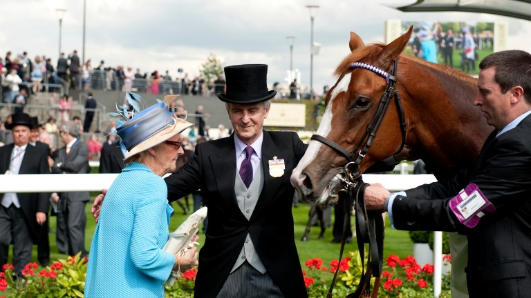 Jim and Jackie Bolger after Dawn Approach's victory in the Coventry Stakes at Royal Ascot