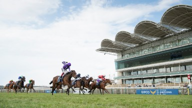 Mother Earth (Frankie Dettori) wins the 1000 GuineasNewmarket 2.5.21 Pic: Edward Whitaker/Racing Post