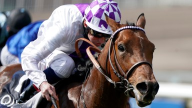 Poetic Flare wins the 2,000 Guineas at Newmarket