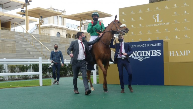 Ebaiyra berada di posisi 33-1 untuk Arc setelah bangkit kembali dengan kemenangan di Prix Allez Prancis