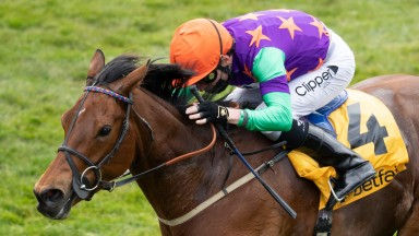 Lady Bowthorpe (Kieran Shoemark) wins the Dahlia Stakes from Queen Power Newmarket 2.5.21 Pic: Edward Whitaker/Racing Post