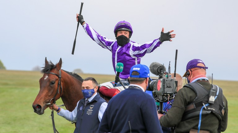 Frankie Dettori: entertained the many thousands watching from home
