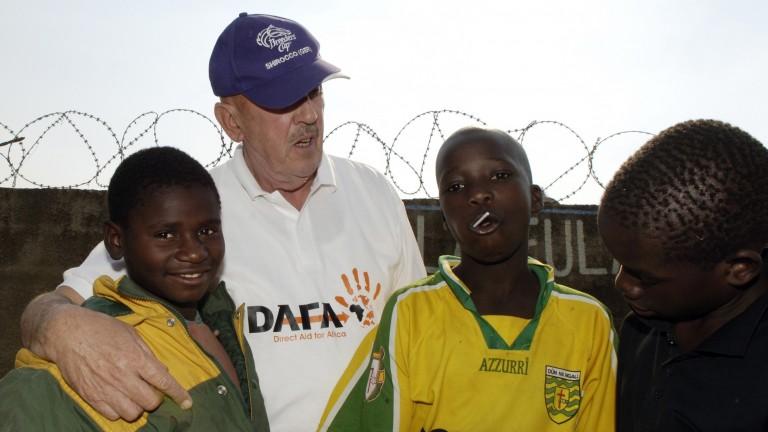 Barney Curley at the Umukolamfula children's centre, Ndola