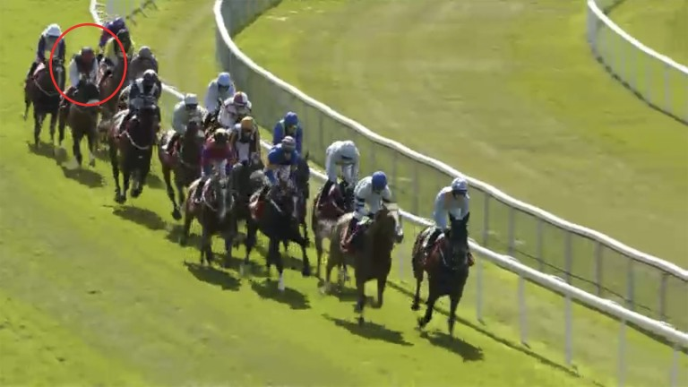The pair are still well in rear as the field take them along in the Chester Cup on Friday