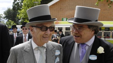 Ascot 22.6.07 Picture:Edward WhitakerLester Piggott arrives at Ascot with PR man Nigel Payne