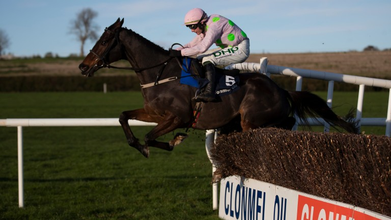 Douvan wins his final race at Clonmel in November 2019 under Paul Townend