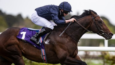 Bolshoi Ballet and Ryan Moore wins the Derrinstown Stud Derby Trial (Group 3) .Leopardstown Racecourse.Photo: Patrick McCann/Racing Post09.05.2021