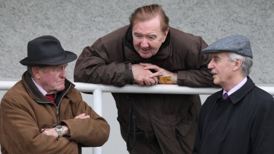 The old guard: Kevin Prendergast (left), Dermot Weld (centre) and Jim Bolger are still going strong at the top level