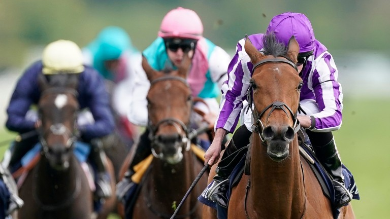 Powering clear: Snowfall put distance between herself and her rivals at York