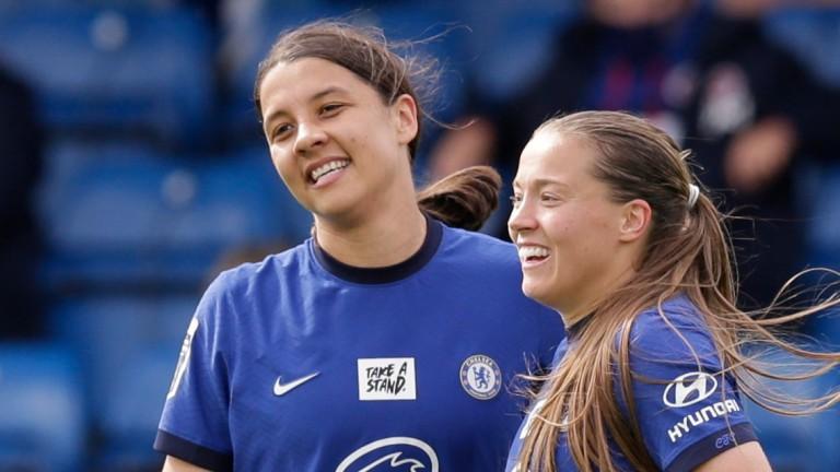 Chelsea strikers Sam Kerr (left) and Fran Kirby