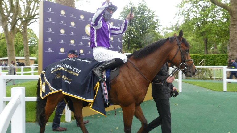 Classic champions: Ioritz Mendizabal and St Mark's Basilica after victory at Longchamp