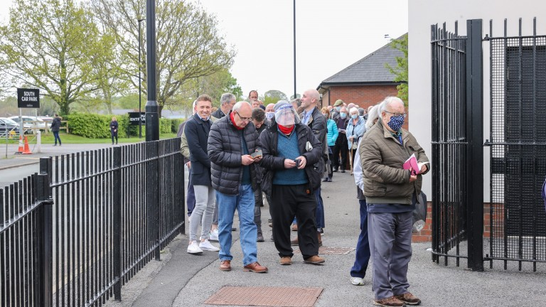 Carlisle Racecourse welcoming crowds back after a long break away due to Coronvirus at CARLISLE 17/5/21Photograph by Grossick Racing Photography 0771 046 1723