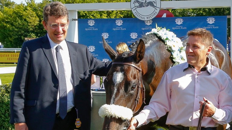 Francois Rohaut (left) aims the unbeaten Suesa at the G1 Commonwealth Cup at Royal Ascot