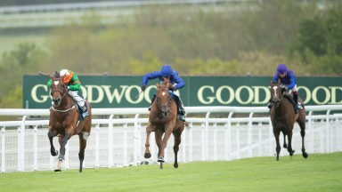 Lone Eagle (Silvestre de Sousa) wins the Cocked Hat StakesGoodwood 21.5.21 Pic: Edward Whitaker/Racing Post