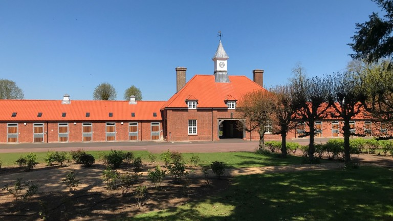 Warren Place: the historic training centre is being used as a vaccination site for the NHS