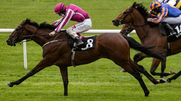 Baby Zeus and Coline Keane winning the Betway Handicap. The Curragh RacecoursePhoto: Patrick McCann/Racing Post23.05.2021