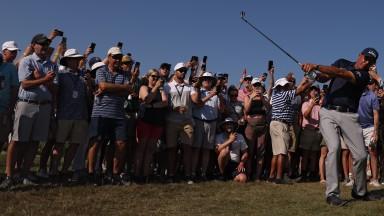 The Kiawah Island crowds flock around Phil Mickelson at the US PGA